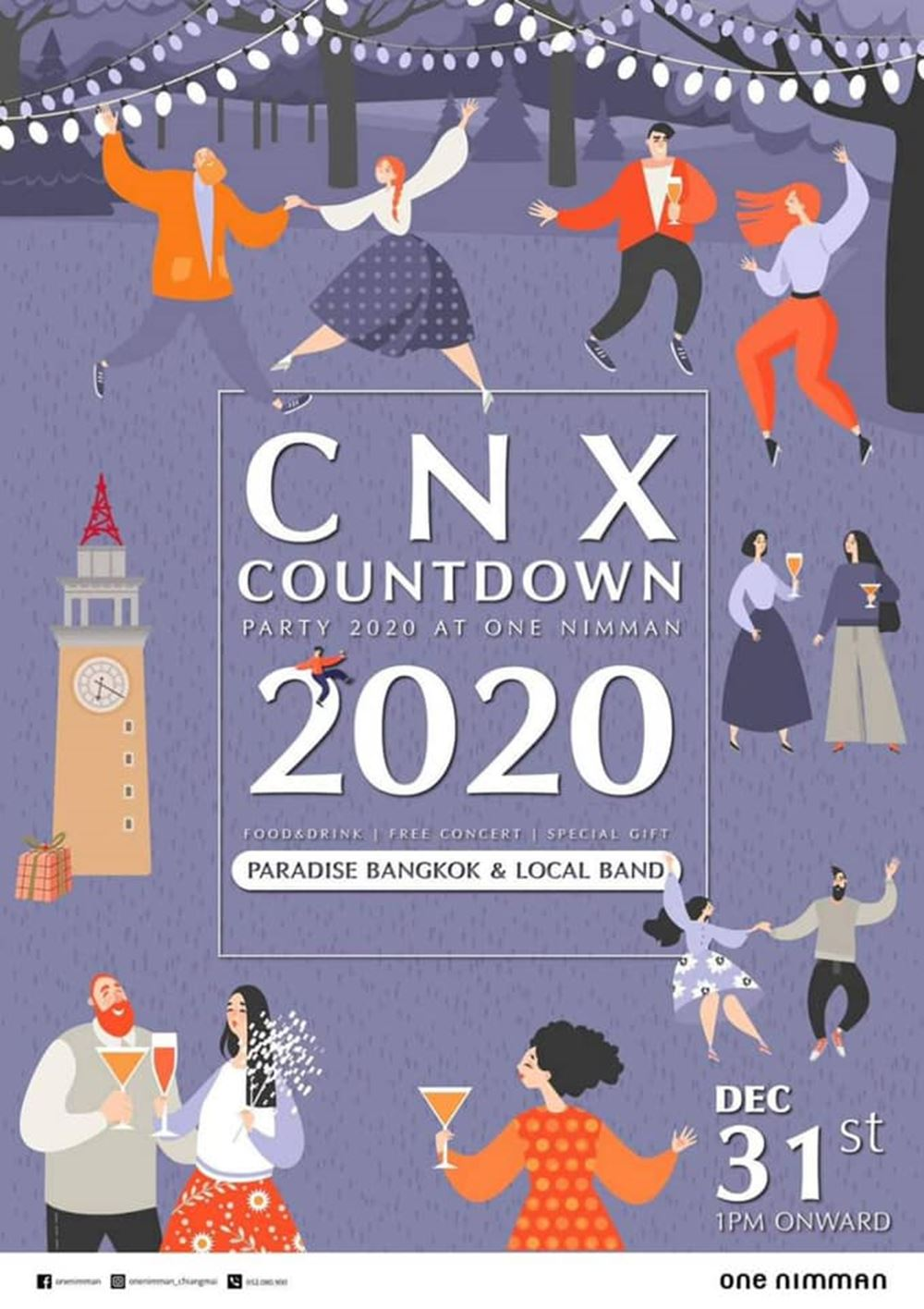 """CHIANGMAI COUNTDOWN PARTY 2020 AT ONE NIMMAN "" ในวันที่ ..."