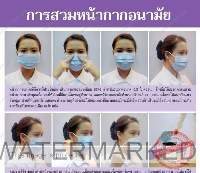 การสวมหน้ากากที่ถูกต้อง