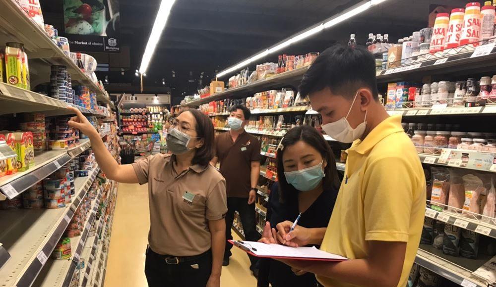 สำนักงานพาณิชย์จังหวัดเชียงใหม่ติดตามสถานการณ์การจำหน่ายสินค้าอุปโภคบริโภค