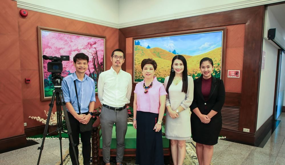 Welcomed TV correspondent of NKH from Japan