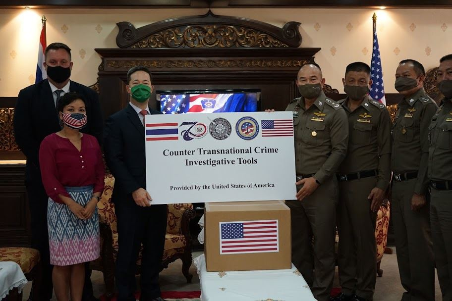 รัฐบาลสหรัฐฯ มุ่งมั่นต่อต้านอาชญากรรมข้ามชาติร่วมกับรัฐบาลไทย