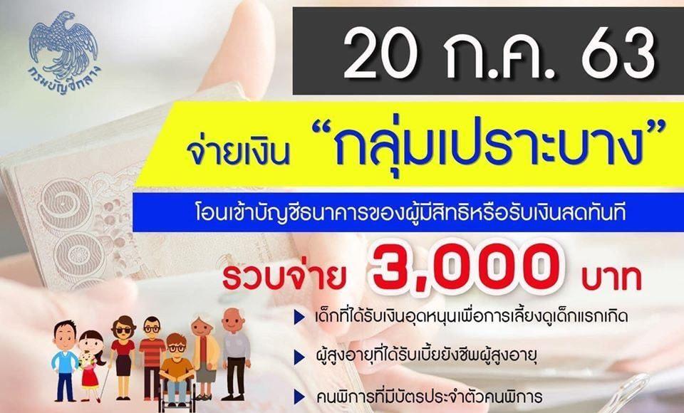 พม. เผย 20 ก.ค.นี้ !! พร้อมจ่ายเงินเยียวยากลุ่มเปราะบาง รายละ 3,000 บาท โอนเข้าบัญชีธนาคารของผู้มีสิทธิ์หรือรับเงินสดทันที