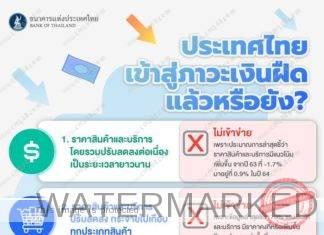 4 checklist เงื่อนไขของภาวะเงินฝืด